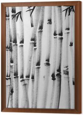 Framed Canvas bamboo forest