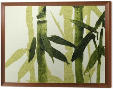 Framed Canvas Bamboo / Texture