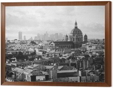 Framed Canvas beautiful retro view of Paris