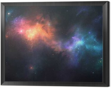 Framed Canvas Beautiful space background