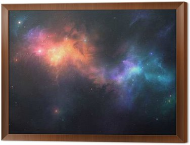 Beautiful space background Framed Canvas
