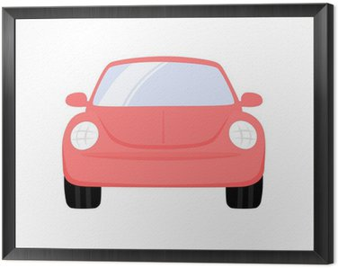 Framed Canvas Beetle Car Front View