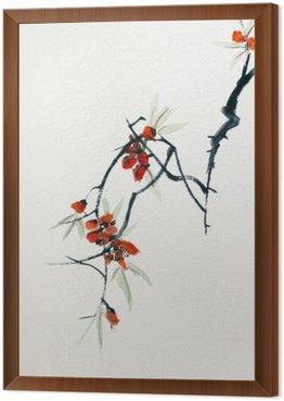 Framed Canvas Blooming Sakura