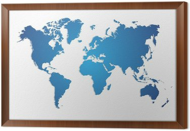 Pixers world map of the canvas map wall art old world map canvas wall mural on map world maps for children canvas prints gumiabroncs Choice Image