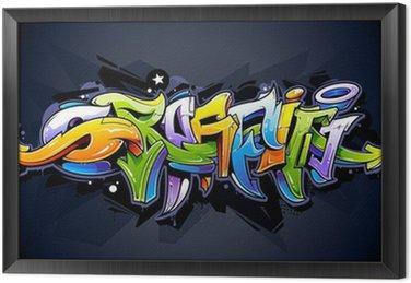 Framed Canvas Bright graffiti lettering