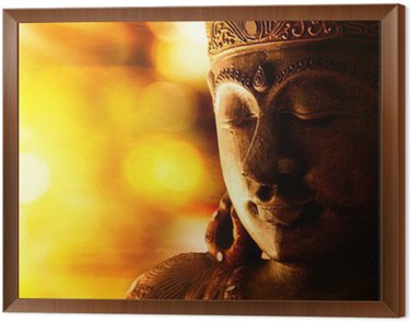 bronze buddha statue Framed Canvas