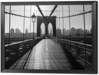 Framed Canvas Brooklyn Bridge, Manhattan, New York City, USA