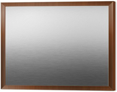 brushed silver metal background, chrome texture Framed Canvas