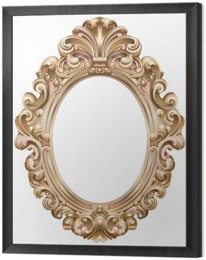 Framed Canvas Cadre baroque ovale doré