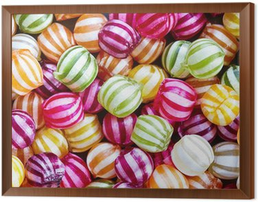 Framed Canvas Candy background