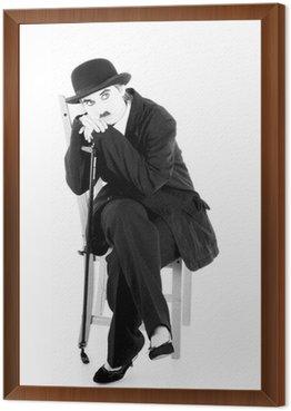 Framed Canvas Charles Chaplin