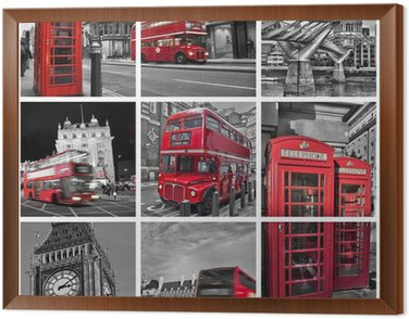 Collage monochrome Londres (UK)