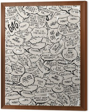 Framed Canvas Collage of comic book dialogue bubbles