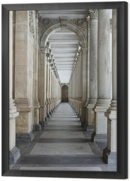 Colonnade in Karlovy Vary Framed Canvas