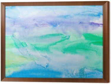 Framed Canvas color strokes watercolor painting art
