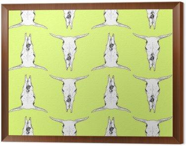 Cow skull pattern Framed Canvas