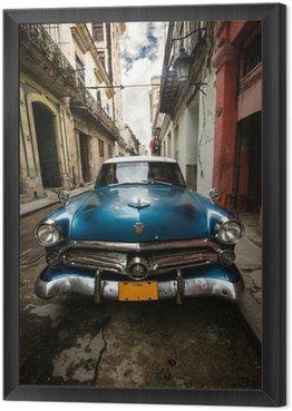 Framed Canvas Cuba Vintage