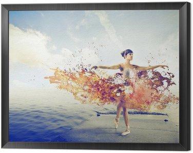 dancer with tutu Framed Canvas