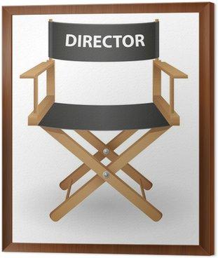 Framed Canvas director movie chair vector illustration