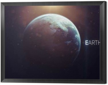 Earth - High resolution beautiful art presents planet of the solar system. This image elements furnished by NASA Framed Canvas