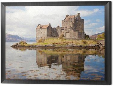Framed Canvas Eilean Donan Castle Scotland