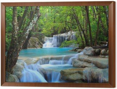 Framed Canvas Erawan Waterfall, Kanchanaburi, Thailand