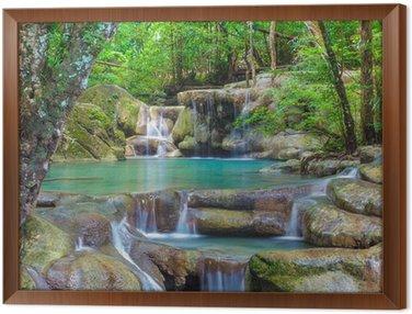 Framed Canvas Erawan Waterfall