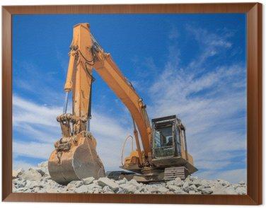 Framed Canvas Excavator