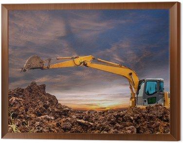 Excavators were working the evening.