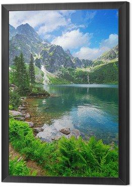 Eye of the Sea lake in Tatra mountains, Poland Framed Canvas
