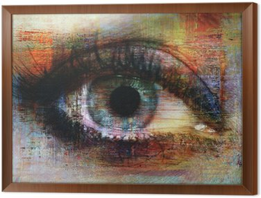 eye texture Framed Canvas