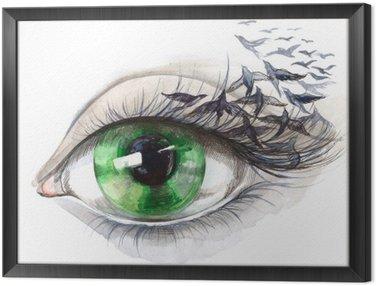 eye with birds (series C)