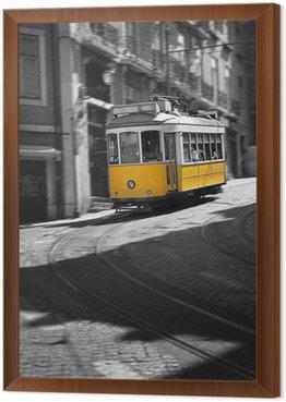Framed Canvas Famous Tram number 28 in Lisbon