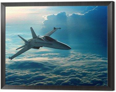 Framed Canvas Fighter jet