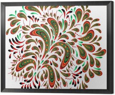 Framed Canvas Floral patterned element 2