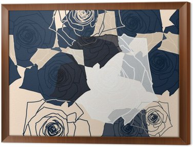 Framed Canvas Flower pattern seamless, Eps 10