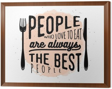 Food related typographic quote