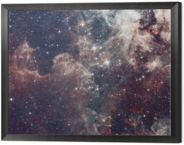 Galaxy illustration, space background with stars, nebula, cosmos clouds