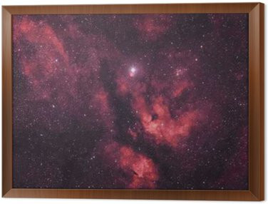 Framed Canvas Gasnebel um den Stern Sadr im Sternbild Schwan