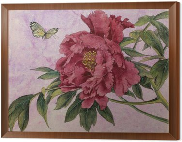 gentle peony and butterfly