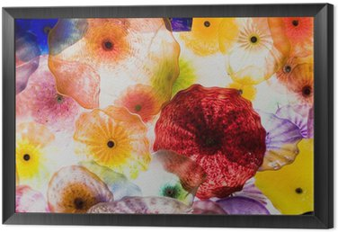 Framed Canvas glass art