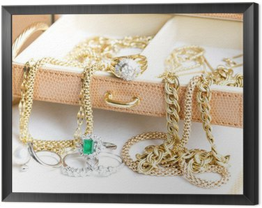Framed Canvas Gold Jewelry