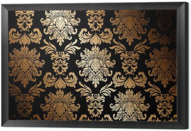 Framed Canvas gold wallpaper