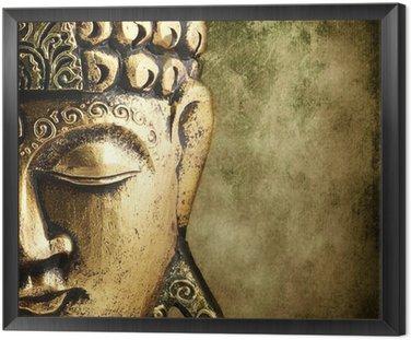 Framed Canvas golden Buddha