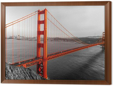Framed Canvas Golden Gate, San Francisco, California, USA.