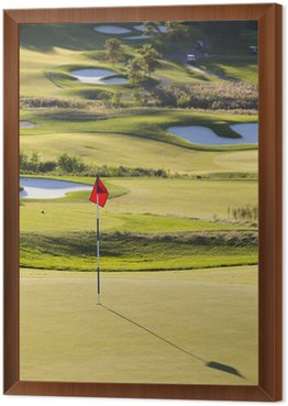 Framed Canvas Golf Course