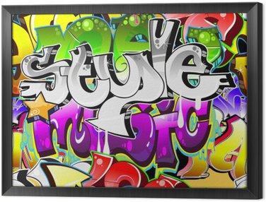 Framed Canvas Graffiti Urban Art Background. Seamless design