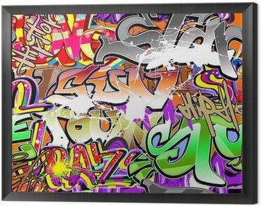 Framed Canvas Graffiti urban art seamless background