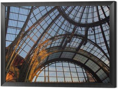 Grand Palais, verrière, Paris Framed Canvas