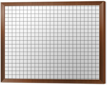 Framed Canvas grid graph